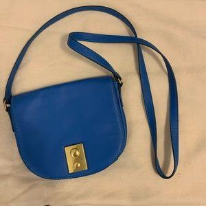 J. Crew Blue Leather Crossbody Bag